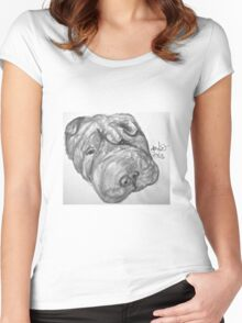 Whirley the dog Women's Fitted Scoop T-Shirt