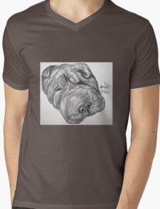 Whirley the dog Mens V-Neck T-Shirt