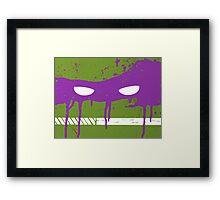 Teenage Graffiti Purple Mask Framed Print