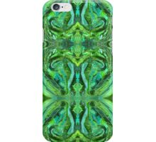 Green Abstract Paisley Teardrop Painting Pattern iPhone Case/Skin