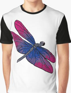 Bisexual Dragonfly Graphic T-Shirt