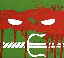 Teenage Graffiti Red Mask by bencriss