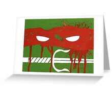 Teenage Graffiti Red Mask Greeting Card