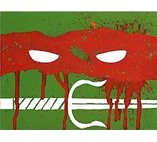 Teenage Graffiti Red Mask Photographic Print