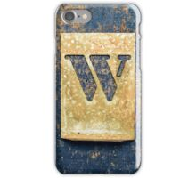 Letter W iPhone Case/Skin