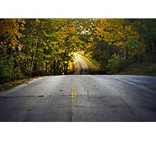 Country Road in Fall Photographic Print