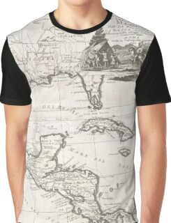 Vintage Map of The Gulf of Mexico (1798) Graphic T-Shirt