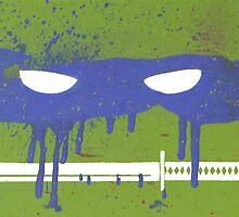 Teenage Graffiti Blue Mask by bencriss