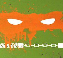 Teenage Graffiti Orange Mask by bencriss