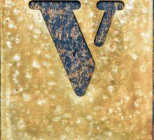 Letter V Sticker