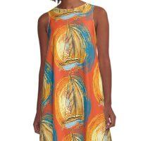 Sunset Sails A-Line Dress