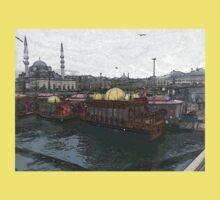 Istanbul harbour landscape Kids Clothes