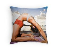 Kapotasana - Arms Straight Throw Pillow