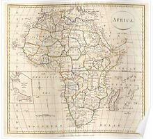 Vintage Map of Africa (1799) Poster