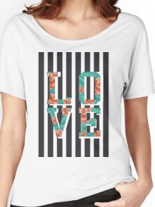 ROSE LOVE + B&W Women's Relaxed Fit T-Shirt