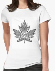 Canadian Maple Leaf Womens Fitted T-Shirt