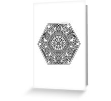 Mandala Design with Flower Greeting Card