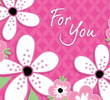 FOR YOU Card Frangipani Pink by daisy-beatrice