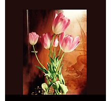 Tulips with Tiger Photographic Print