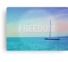 Freedom Inspirational Photo Quote Canvas Print