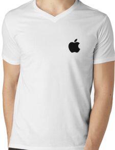 Apple Logo Mens V-Neck T-Shirt