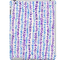Hand Painted Herringbone Pattern in Purple & Blue iPad Case/Skin