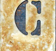 Letter C Sticker