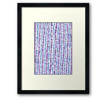 Hand Painted Herringbone Pattern in Purple & Blue Framed Print