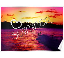 Summer Love Inspirational Photo Quote Poster