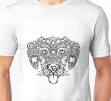 Happy Dog Face Design Unisex T-Shirt