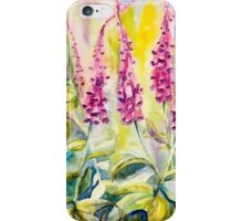 Pink Foxgloves iPhone Case/Skin