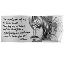 Athos Sketch Quote Poster