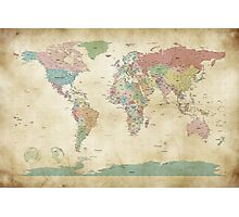 Political World Map Photographic Print