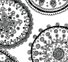 Abstract Zentangle Design Sticker