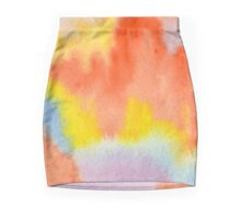 Hand-Painted Abstract Watercolor Sunset in the Rain Mini Skirt