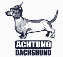 Achtung Dachshund blue by Armchair