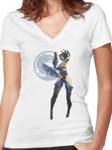 Kitana Women's Fitted V-Neck T-Shirt