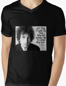 Quote by Bob Dylan Mens V-Neck T-Shirt