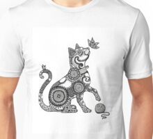 Cat with Butterfly Unisex T-Shirt