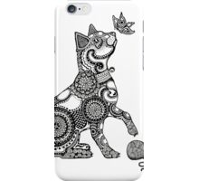 Cat with Butterfly iPhone Case/Skin