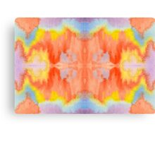 Handpainted Abstract Watercolor Orange Yellow Blue Purple Canvas Print