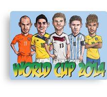 World Cup footballers Metal Print