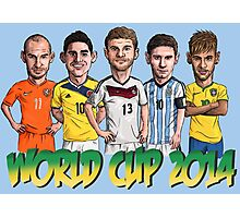 World Cup footballers Photographic Print
