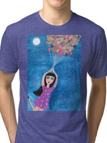 Missy and the Moon Balloons Tri-blend T-Shirt