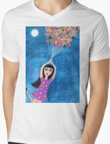Missy and the Moon Balloons Mens V-Neck T-Shirt
