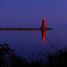 Lighthouse at Dusk by Amy Herrfurth