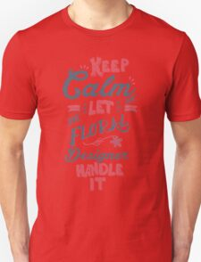 KEEP CALM FLORAL DESIGNER Unisex T-Shirt