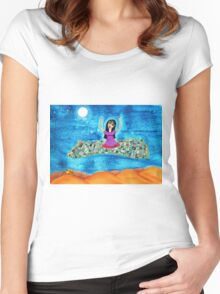Missy's Magical Flying carpet Women's Fitted Scoop T-Shirt