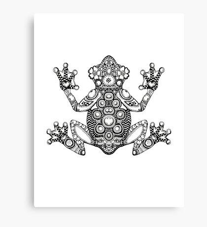 Frog Zentangle Canvas Print