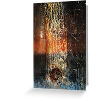 Falling Meteor (Rust Abstract) Greeting Card